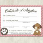 Pet Adoption Certificate Template