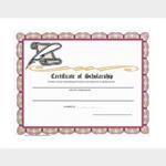 Scholarship Certificate Template Word