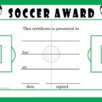 Soccer Award Certificate Template