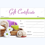 Spa Day Gift Certificate Template