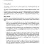 Template For Information Report