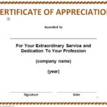 Thanks Certificate Template