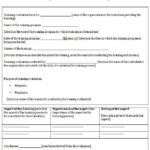 Training Feedback Report Template