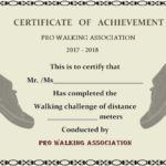 Walking Certificate Templates