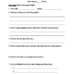 Book Report Template 6Th Grade