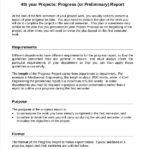 Engineering Progress Report Template