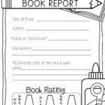 First Grade Book Report Template
