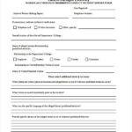 Incident Hazard Report Form Template