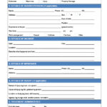 Incident Report Form Template Qld