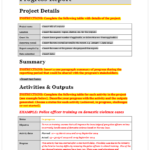 Monthly Program Report Template