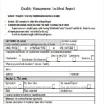 Ohs Incident Report Template Free