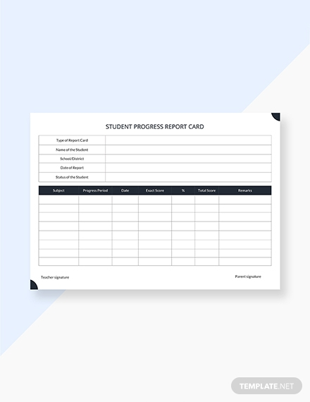 Report Card Template Pdf