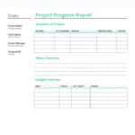 Site Progress Report Template