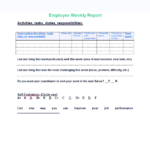 Weekly Accomplishment Report Template