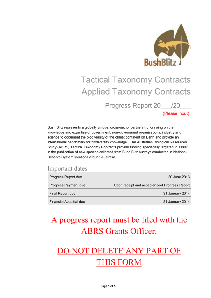 Acquittal Report Template