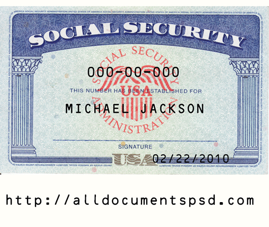 blank social security card template  templates example