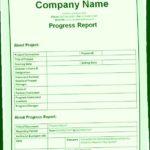 Company Progress Report Template