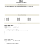 Free Blank Cv Template Download