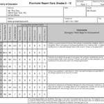 High School Student Report Card Template