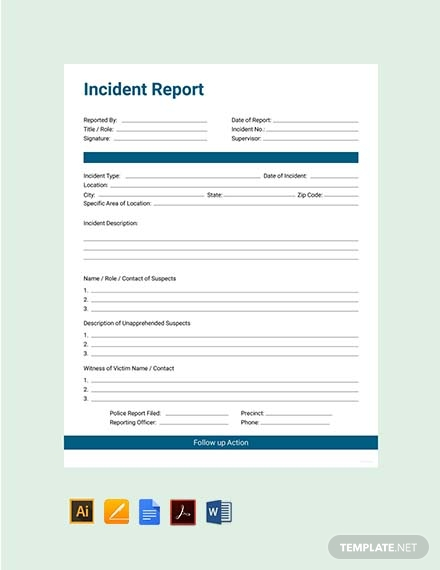 Incident Report Template Microsoft