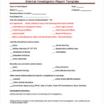 Investigation Report Template Disciplinary Hearing