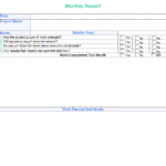 Month End Report Template