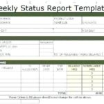 Project Weekly Status Report Template Excel