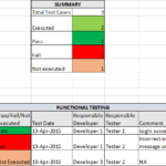Test Case Execution Report Template