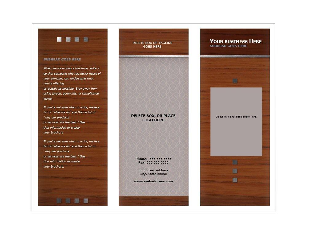 Brochure Templates Download Word