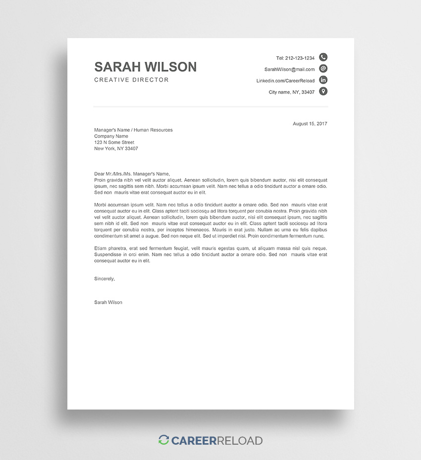 Cover Letter Template Free Google Docs