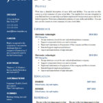 Cv Templates Download for Word