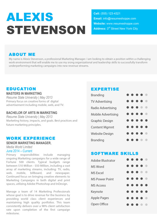 Resume Templates Apple Pages