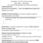 Resume Templates College