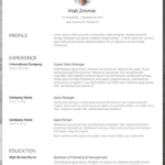 Resume Templates Download