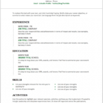 A Resume Template On Word