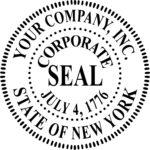 Blank Seal Template