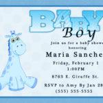 Invitation Templates Baby Shower Boy