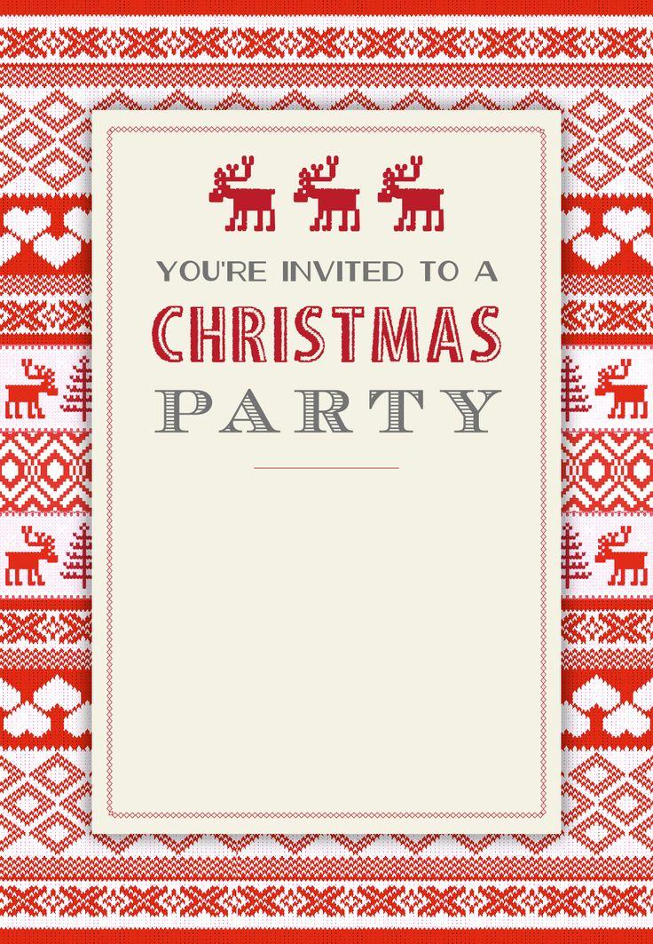 Invitation Templates Christmas Free