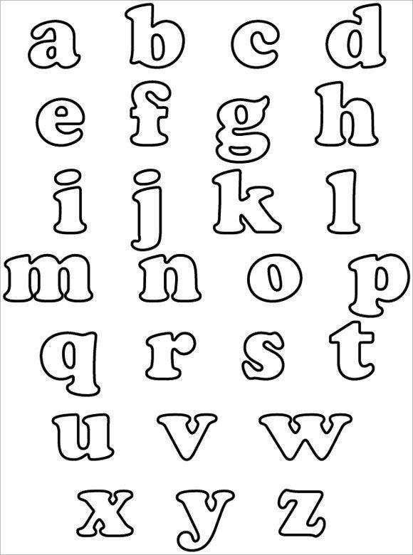 Letter Template Alphabet