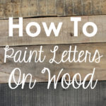 Letter Templates for Painting