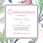Invitation Templates Quinceanera