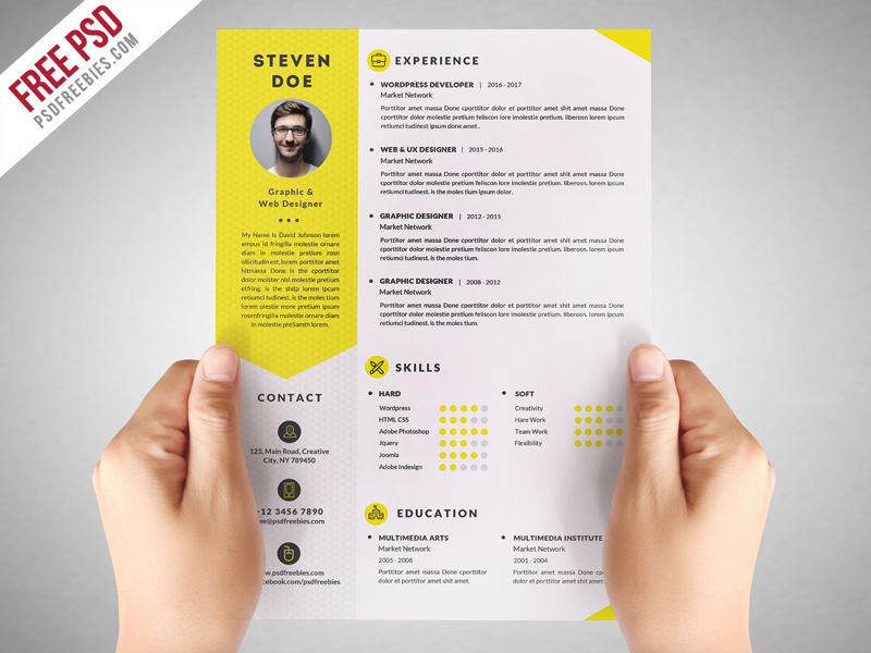 Resume Templates Behance