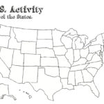 United States Map Template Blank