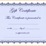 8×10 Certificate Template