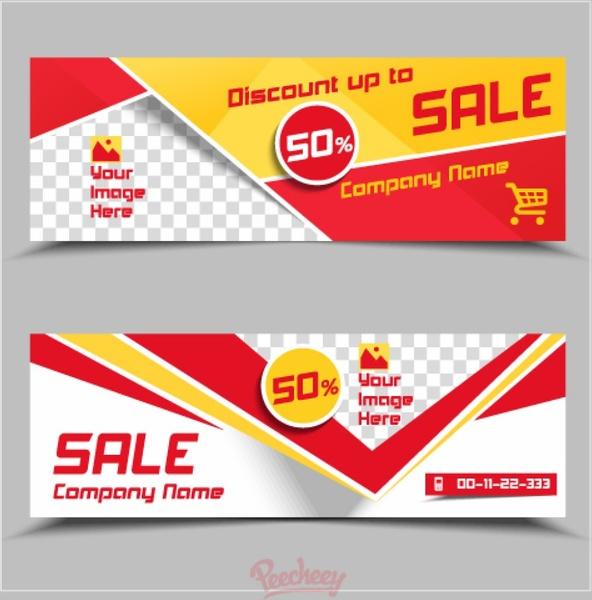Banner Design Templates Illustrator