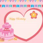 Birthday Card Template Hd