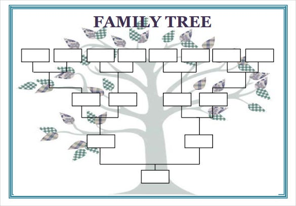 Blank Tree Diagram Template