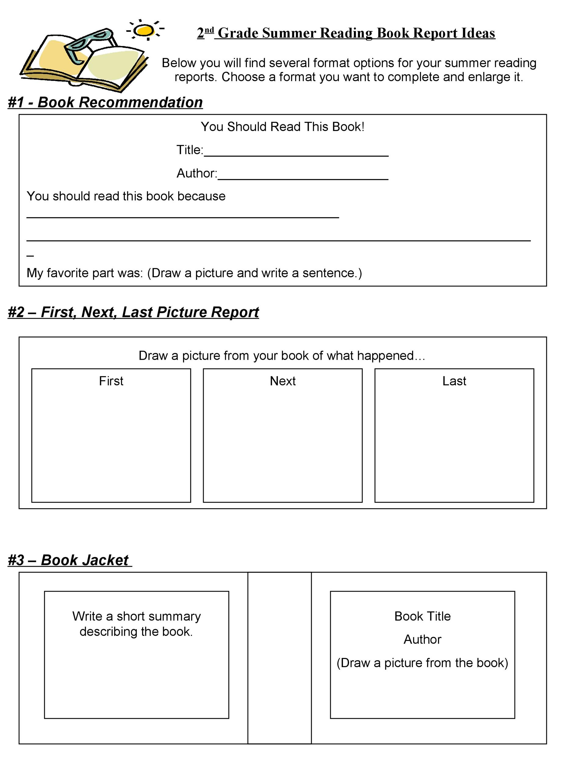 Book Report Template 9th Grade Pdf