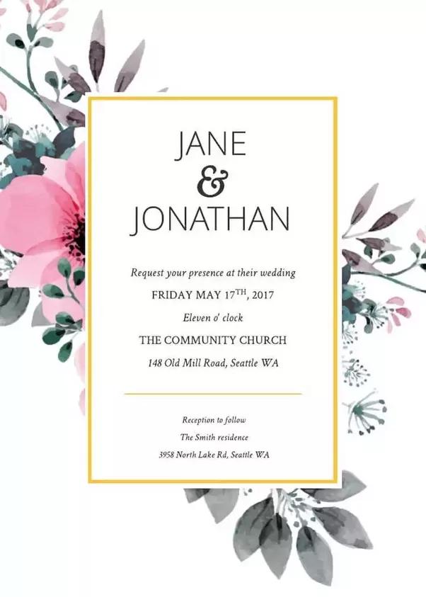 E-Wedding Invitation Templates Free