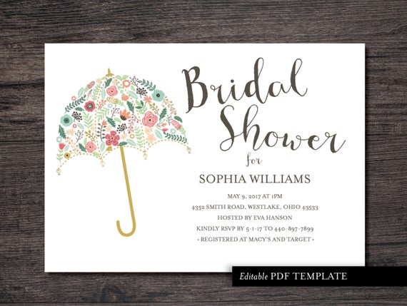 Editable E Invitation Templates